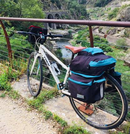 Sidonie has tested the holidays by bike: Steam Train of Ardeche, Dolce Via with her family.
