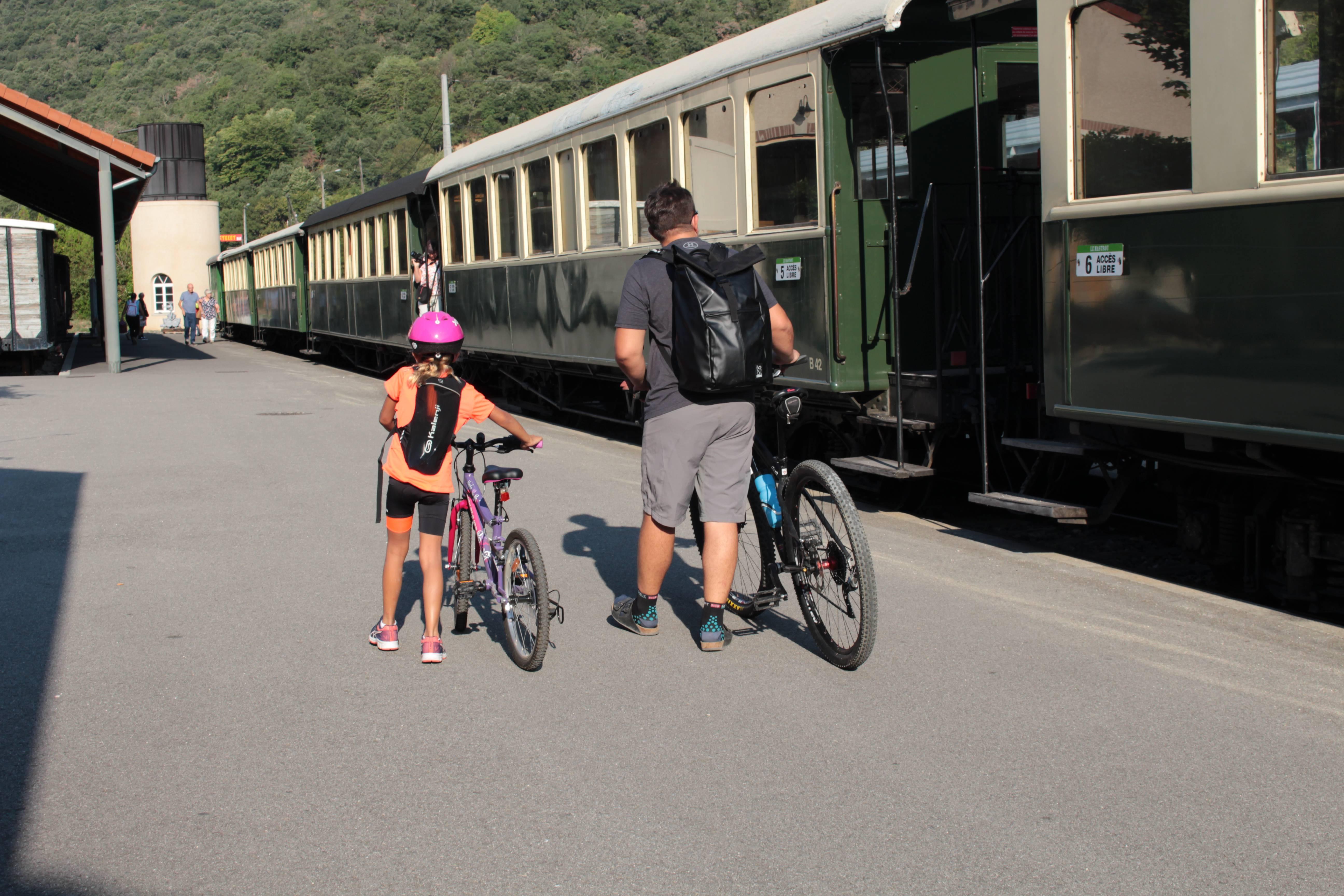 Train de l'Ardèche avec transport de vélo