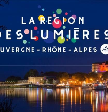 Sound and light show at the castle of Tournon sur Rhône