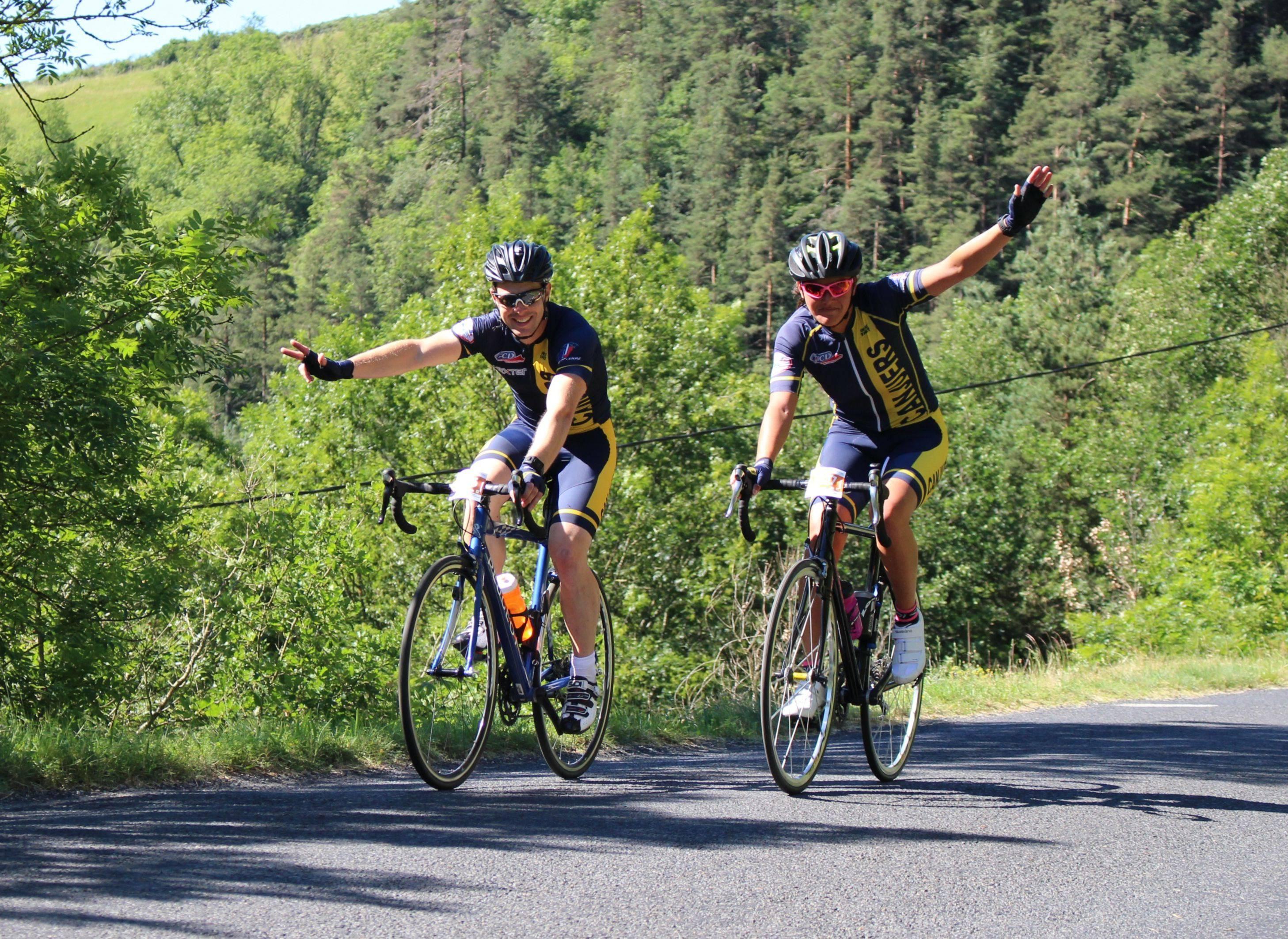 Cyclo route in Ardèche Verte