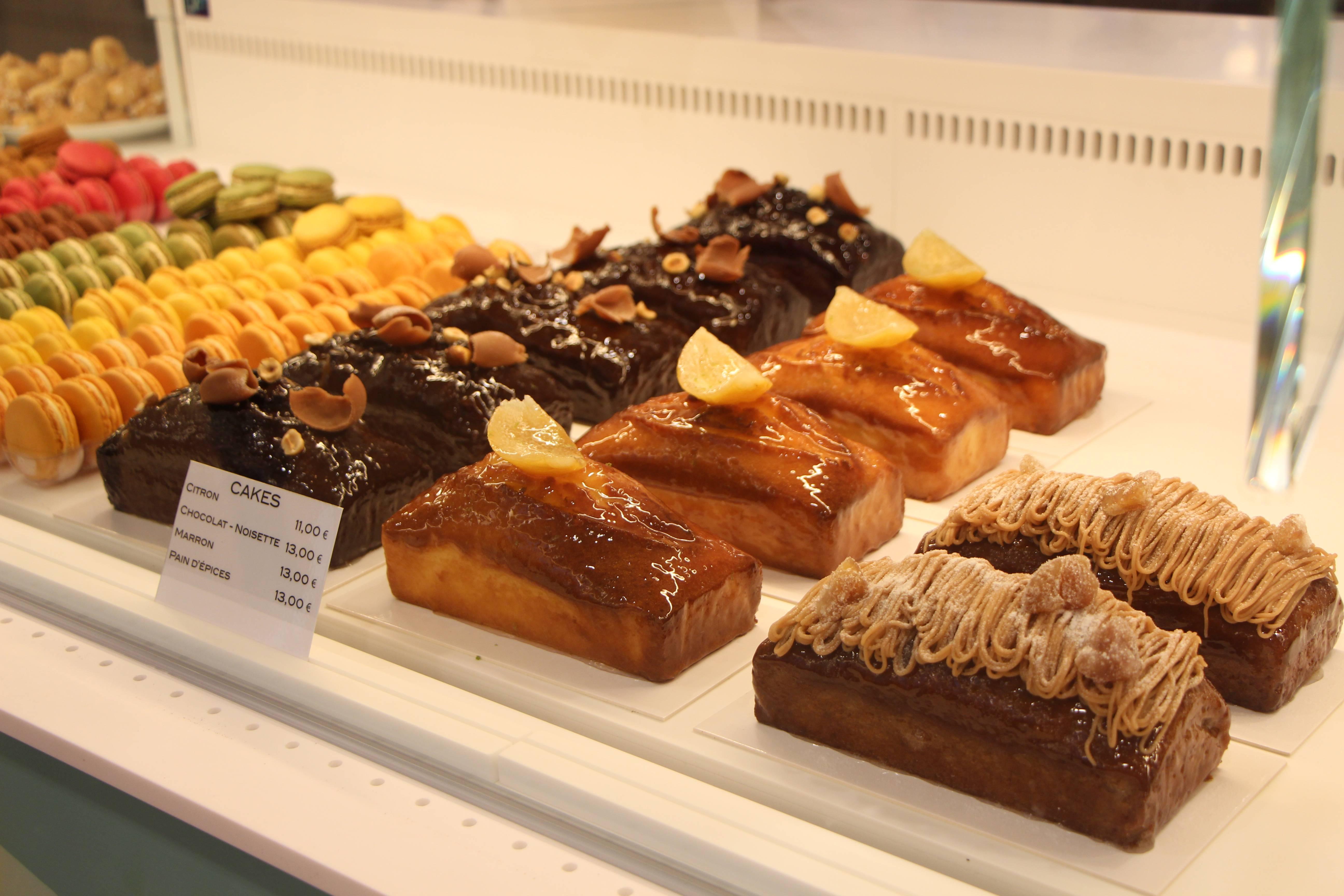 Les cakes de la pâtisserie Intense