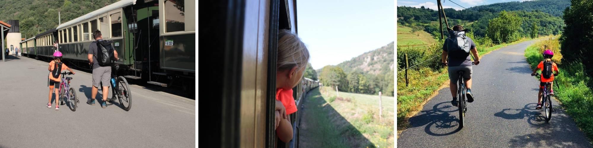 Train de l'Ardèche et Vélo