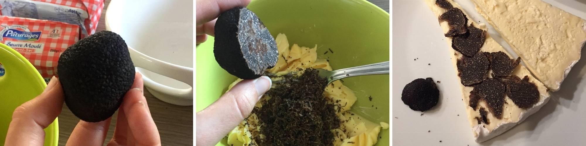 repas à base de truffes