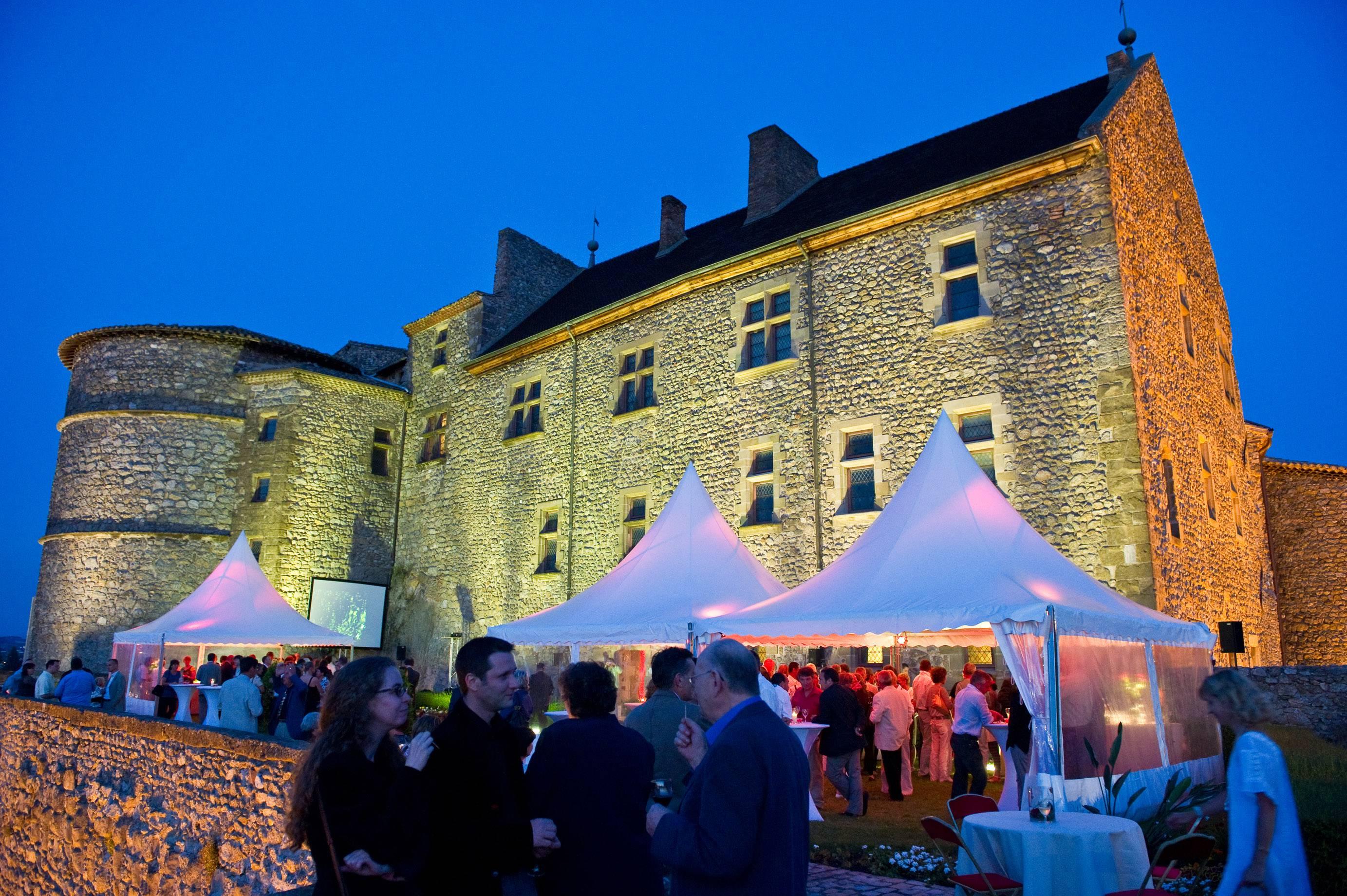 Soirée sur la terrasse du Château