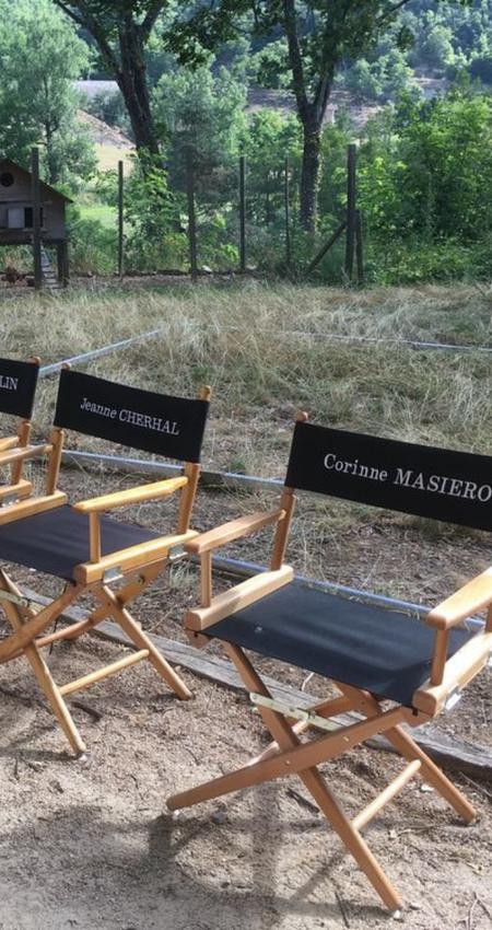 Chaise de tournage de la série