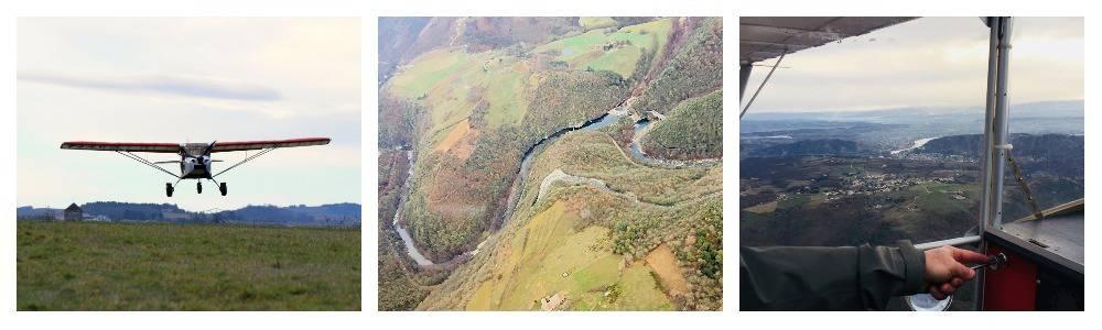 ULM multi-axes,  les gorges du Doux et la Vallée du Rhône vu du Ciel par Ardèche Hermitage Tourisme