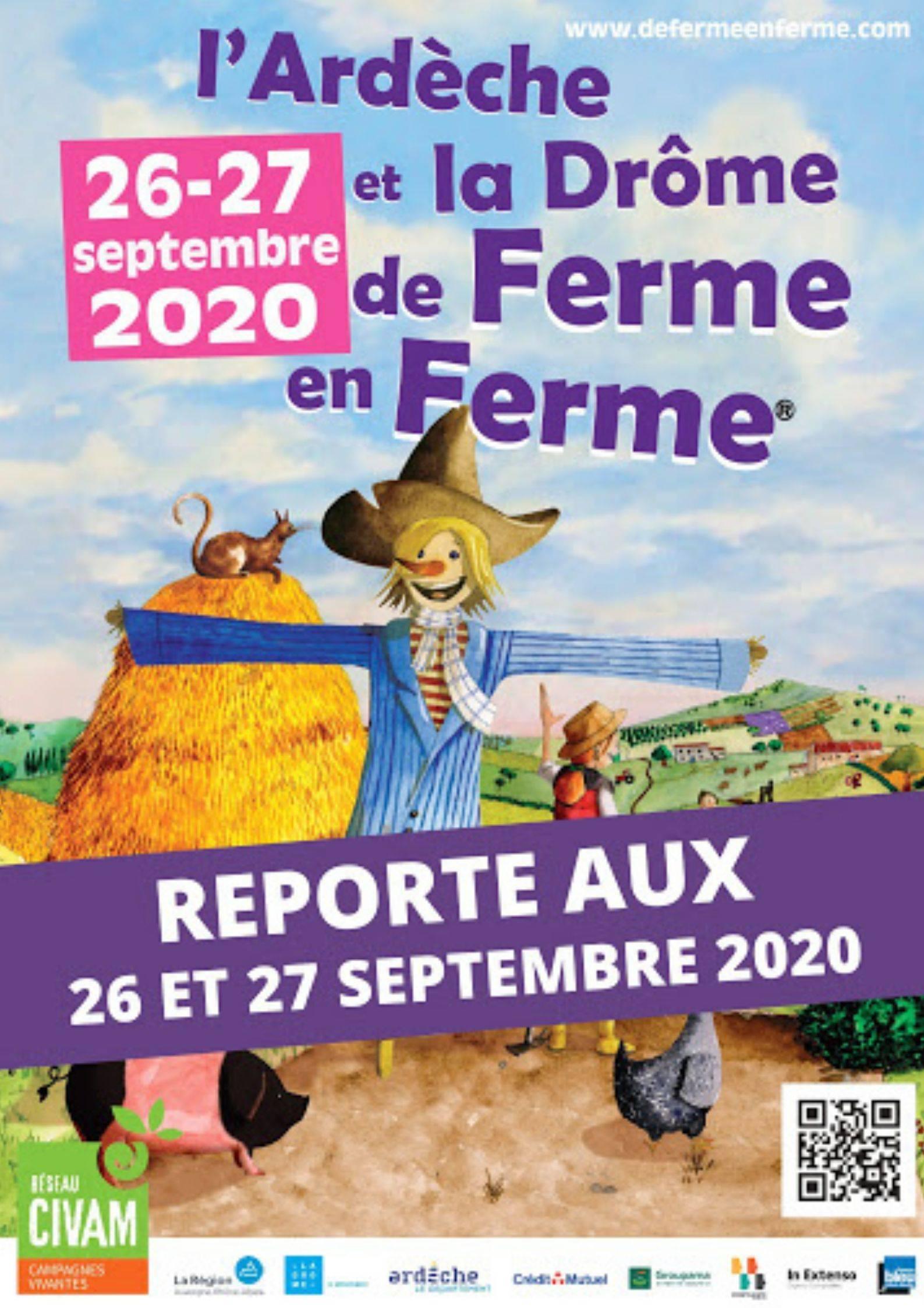 Affiche de ferme en ferme Drôme Ardèche