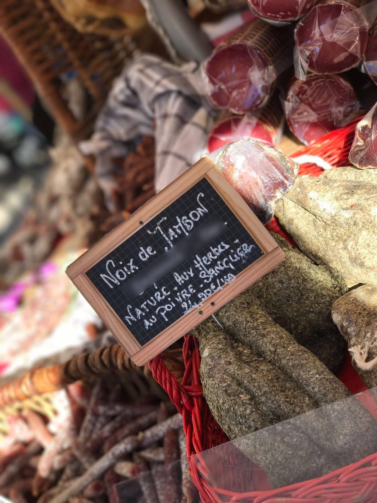 Produit du terroir marché Tournon sur Rhône