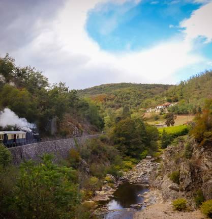 Manon tried a trip on the Train des Gorges du Doux
