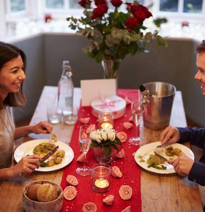 Repas en amoureux pour la Saint Valentin en Ardèche Hermitage