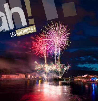 La saison des feux d'artifice en Ardèche Hermitage !