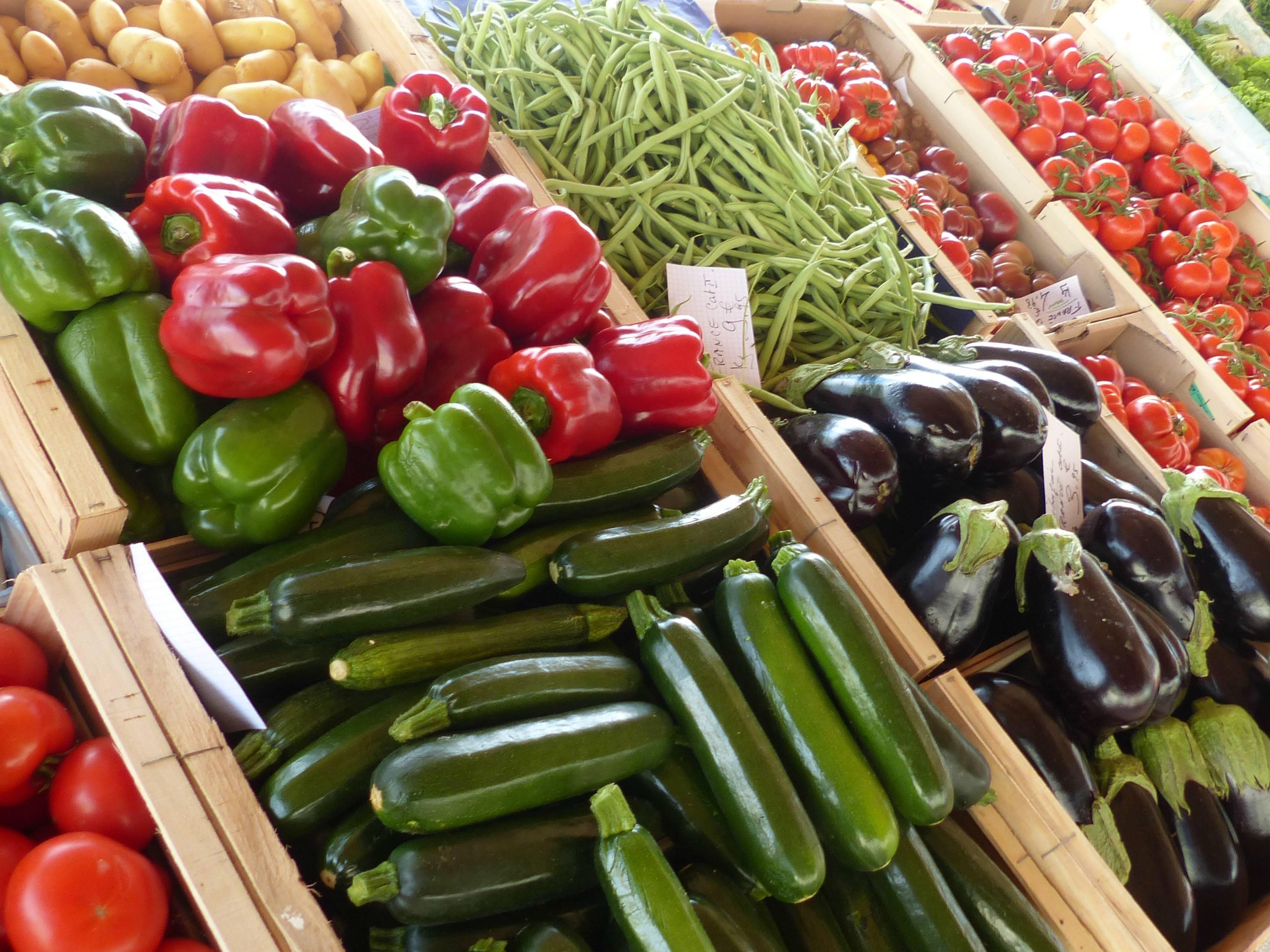 Marché aux légumes de Tournon sur Rhône