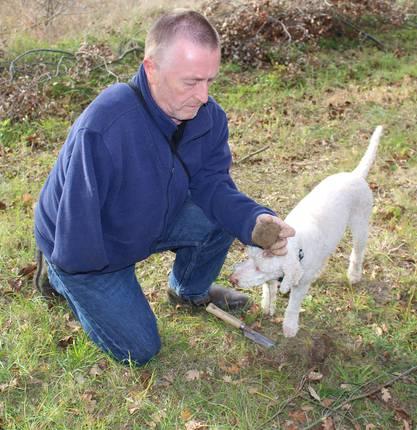Elodie découvre le cavage de truffes