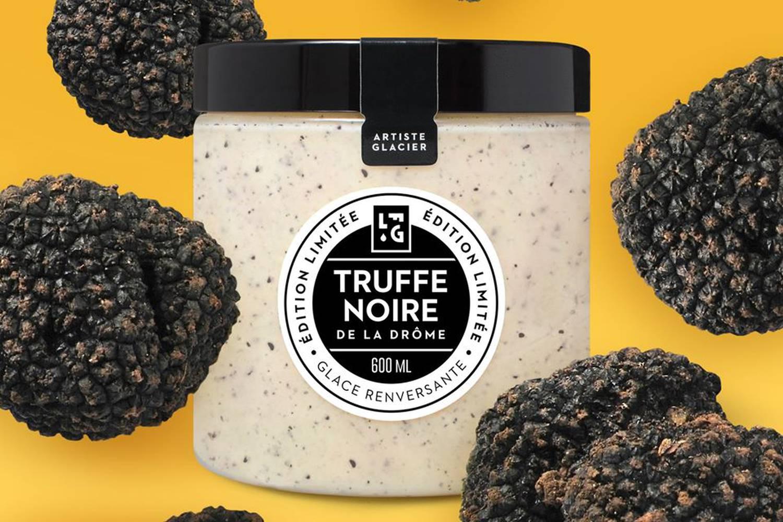 Glace à truffes noires de la Drôme des Collines