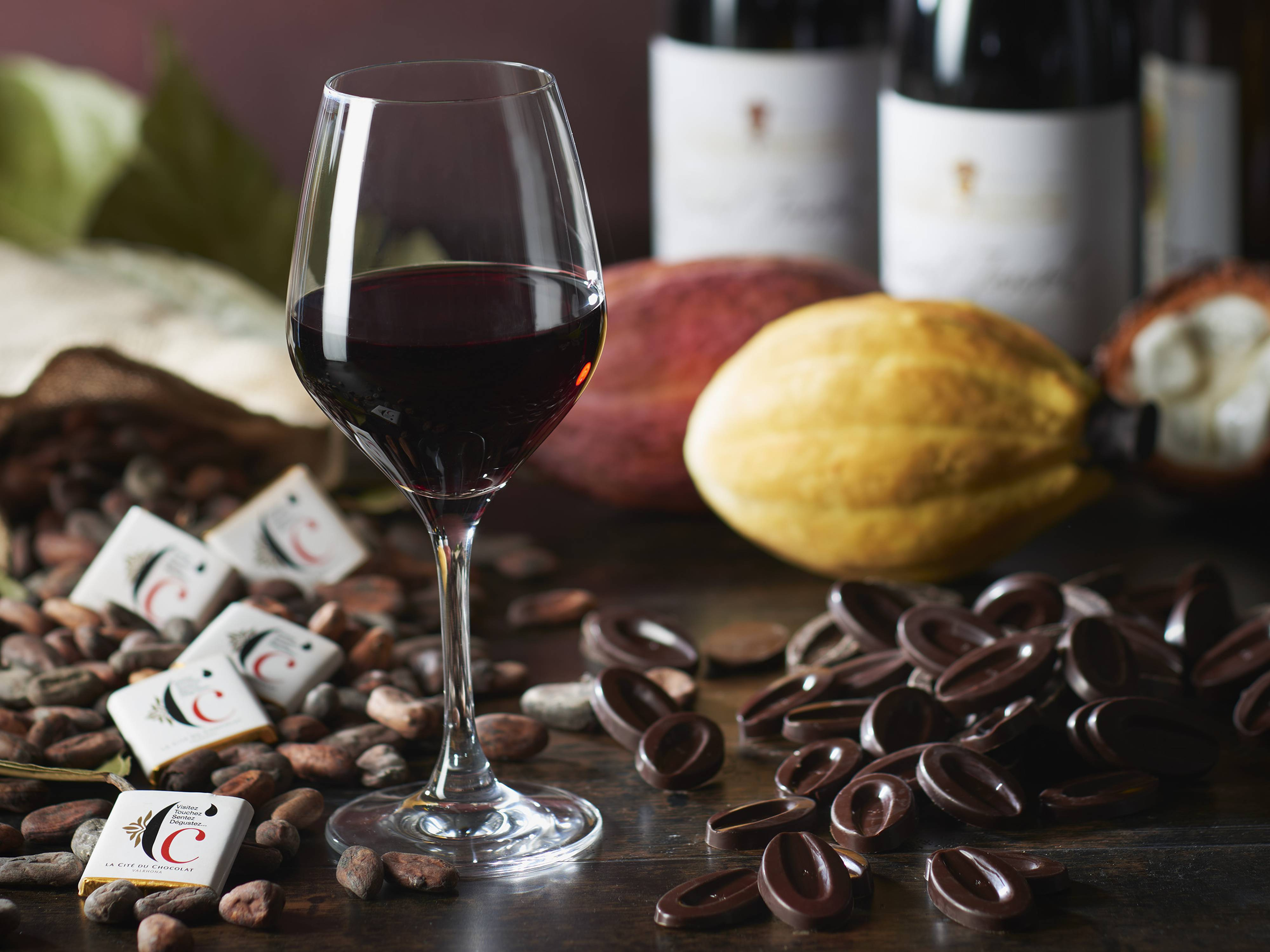 Dégustation vins et chocolats Valrhona