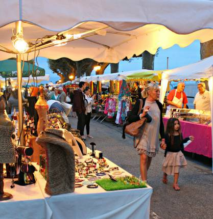 Nice summer markets in Ardèche Hermitage