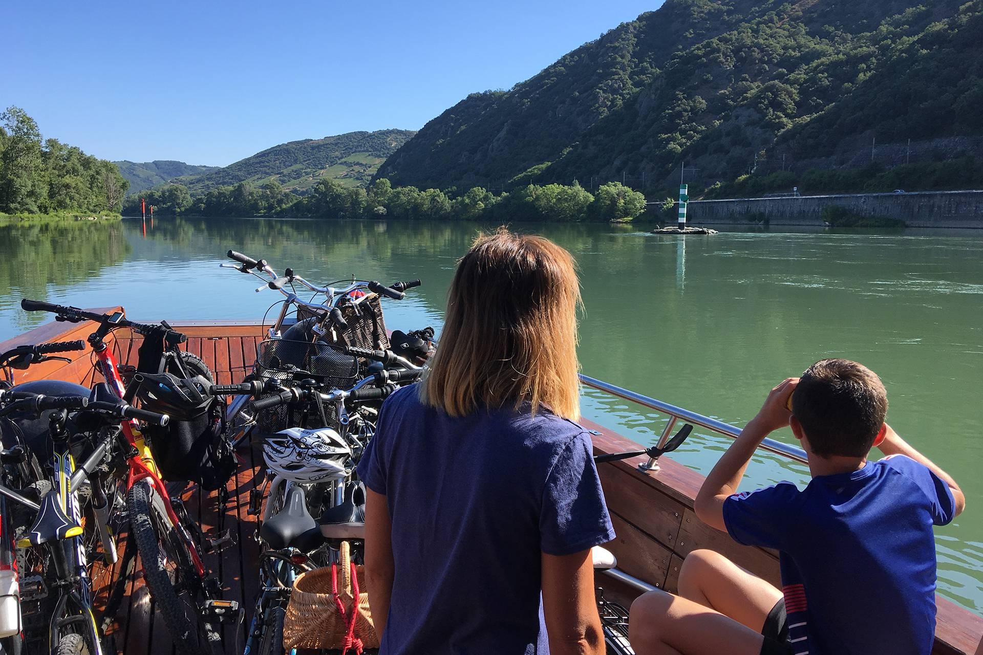 Vélo à bord du bateau