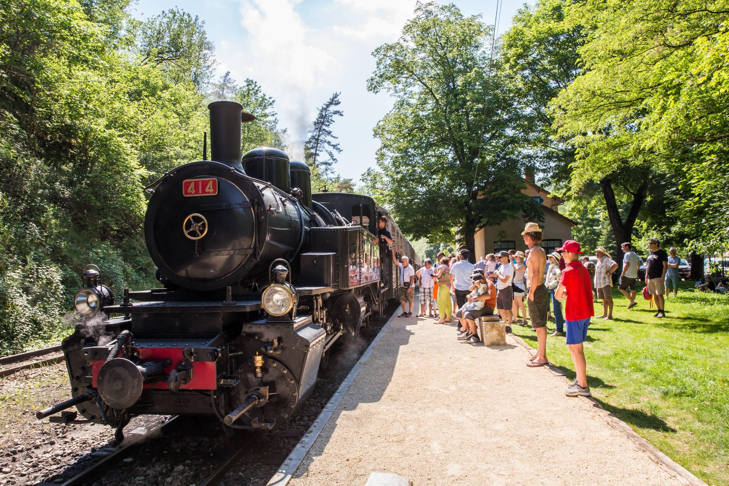 Train de l'Ardèche à Boucieu le Roi