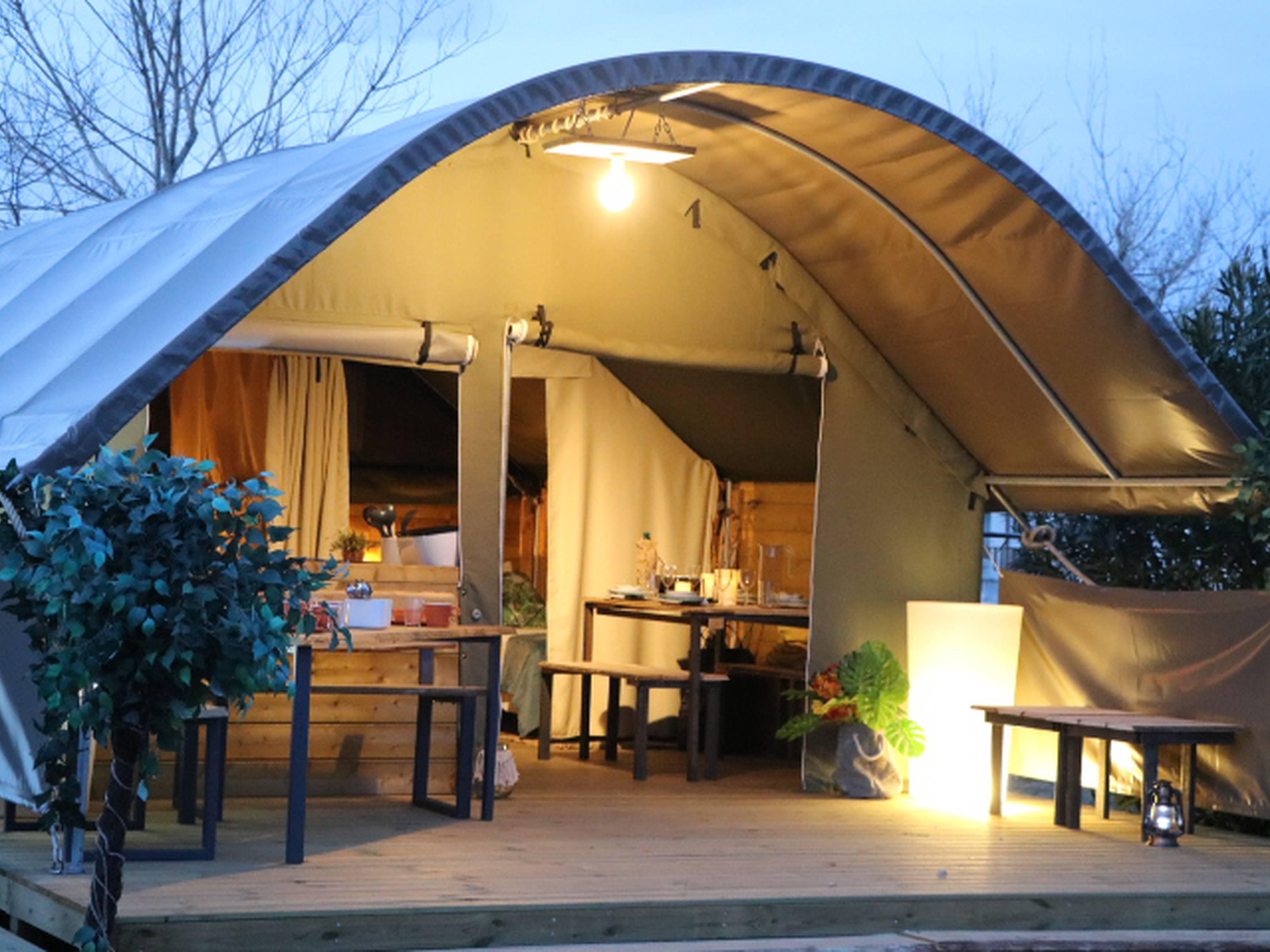 Tente toile & bois KIBO Camping Le Viaduc