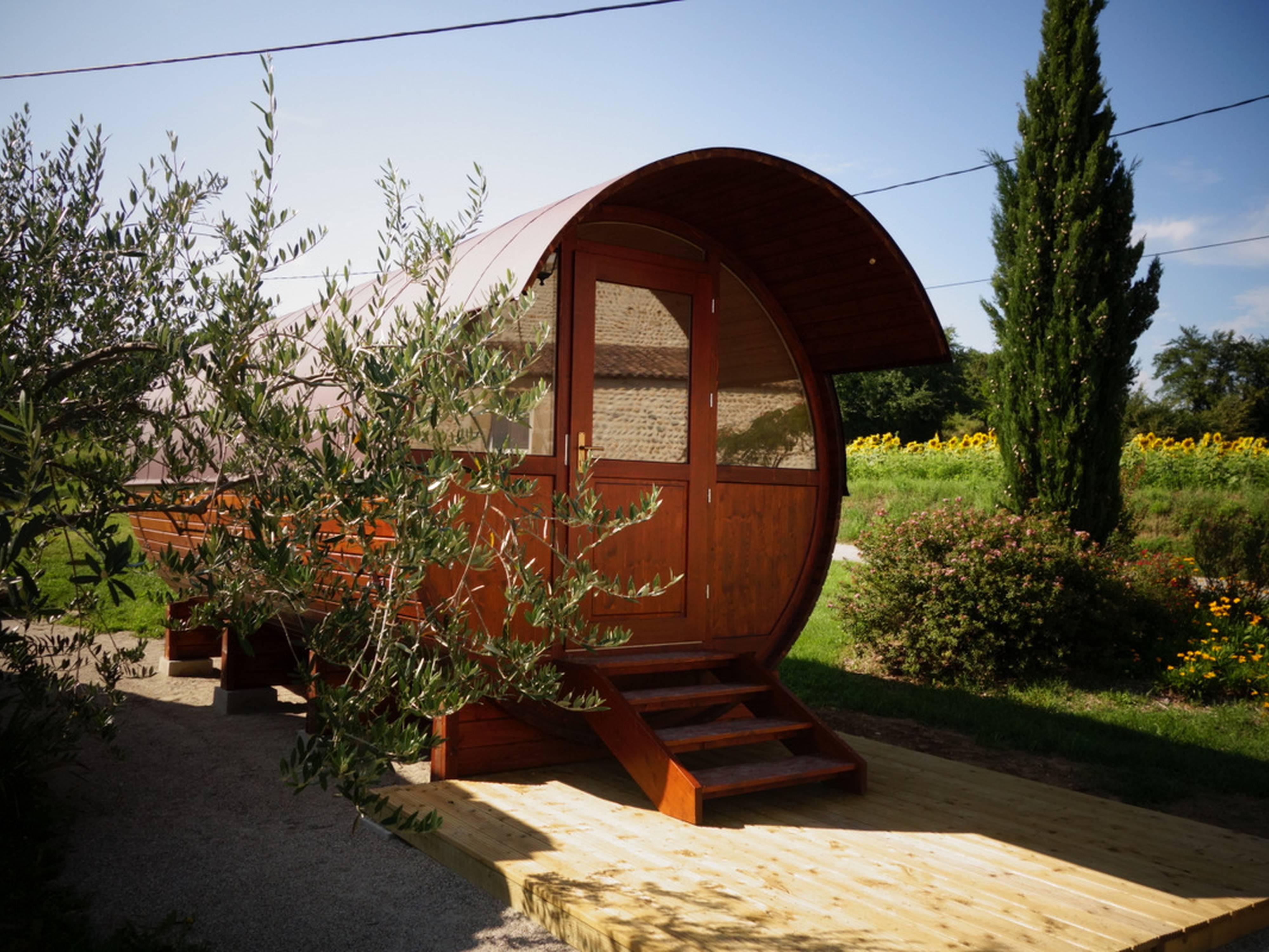 Dormir dans un tonneau en Drôme